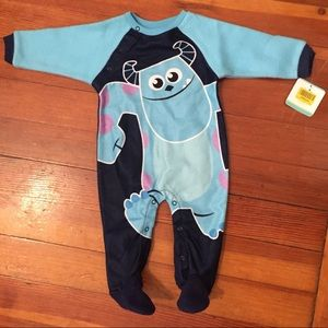 Monsters, Inc. one piece fleece romper
